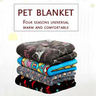 Ultra Soft Pet Dog Cat Bed Mat Cute Warm Reversible Flannel Washable Breathable