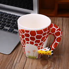 54FB 3D Hand Painted Animals Handle Ceramic Coffee Tea Mug Cup Cuppa Gift Home O