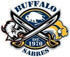 Buffalo Sabres Color Die Cut Vinyl Decal Sticker - You Choose Size $3.79 USD on eBay