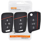 For VW Golf Polo Tiguan Passat Atlas Fob Remote Holder Silicone Key Case Cover