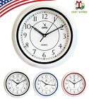 Camy 10 Inch Round Wall Clock Quality Quartz Battery Operated for Home Decor