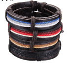 Punk Genuine Wrap Cowhide Leather Bracelets Men or Women Cuff adjustable vintage