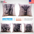 Animal Cushion Covers in 5 Designs Linen Printing pillow Cushion Cover 45cm