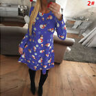 UK Size 6-22 Womens Xmas Christmas Santa Long Sleeves Ladies Snowman Paty Dress <br/> ❤Plus Size❤❤UK 8 10 12 14 16 18 20 22 24 26❤❤14 Styles❤