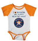 Houston Astros I Love Watching The Astros With Daddy Baby Bodysuit Orange on Ebay