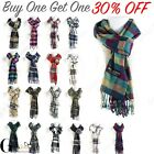 Внешний вид - Women Men 100% CASHMERE Scarf Solid Plaid Wool SCOTLAND High Quality Winter