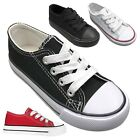 Внешний вид - NEW Baby Toddler Canvas Lace Up Low Top Sneakers Shoe Size 4 to 9 Boys Girls