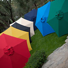 Vend Umbrella Classic Wood Wooden Patio 11 Foot Ft New Language Pool Beach Large