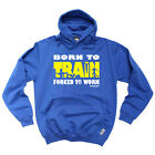Running Hoodie Hoody Funny Novelty hooded Top - Born To Train