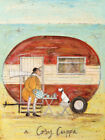 Sam Toft - A Cosy Cuppa - Canvas Print Wall Art - 2 sizes available