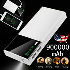 900,000mAh Halloween Outing Power Bank LCD LED 4 USB External Battery Charger