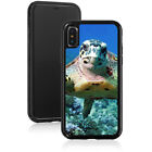 For Apple iPhone X XS Max XR Shockproof Hard Case Cover 1570 Sea Turtle