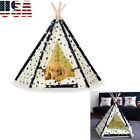 Pet Teepee Tent Dog Cat Toy House Portable Washable Pet Play Bed Star Style S/L