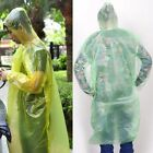 2/5/10X Disposable Emergency Waterproof Raincoat Poncho  Camping Hood ST6 XB RDR
