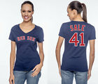 Chris Sale Boston Red Sox MLB  #41 Jersey Style Women's Graphic T Shirt on Ebay
