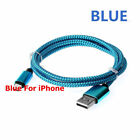 Braided USB Charger Cable 3 / 6 / 10 feet Sync Cord For iPhone 7 Plus X 6 7 8 5