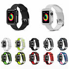 Armor Heavy Duty Tough Sport Strap Case Cover for iWatch Apple Watch Series1 2 3