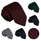 Men's Diagonal Stripe Knitted Polyester Slim 7cm Tie - Work, Evening Party