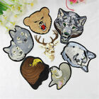 Wolf Dog Tiger Leopard Deer Head Embroidered Patches Lot Appliques Animal Patch