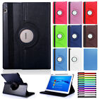 For Huawei MediaPad M2 8.0 M3 Lite 10 Flip Stand 360 Rotating Leather Case Cover