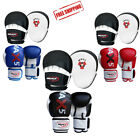 Curved Focus Pads and Boxing Gloves Set Hook & Jab MMA Kick Punch Training Mitts