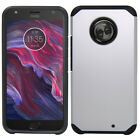 For Motorola Moto X4 (2017) Dual Layer Hybrid Shockproof Hard Armor Case Cover