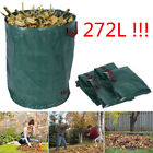 272L Garden Waste Bags Heavy Duty Reusable Garden Refuse Leaves Grass Sacks Bin