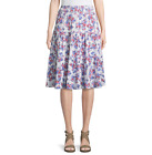 St. John's Bay Floral Jersey Pleated Peasant Skirt Size M, PL, PXXL New