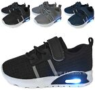 Внешний вид - New Baby Mesh Sneakers Light Up Shoes Black Navy Grey Infant Toddler Size 2 to 7