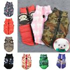 Small Dog Pet Clothing Padded Vest Harness Cat Waistcoat Jacket Apparel Clothes