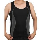 Men's Waist Trainer Sauna Vest for Weight Loss Zipper Neoprene Compression Shirt
