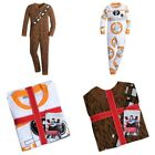 Disney Store Star Wars Pajamas One-Piece BB-8 Chewbacca Chewy Kids PJs Sleepwear