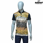 Mondo Men's Fashion multicolor fitted Short/SLEEVE Polo shirt web pattern