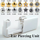 Disposable Ear Piercing Unit Safety Tool Gun Stud Kit Beauty Ear Star Ball Heart