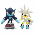 "8""-13"" Sonic The Hedgehog Silver Werehog Super Sonic Plush Doll Figure Toy Gift"