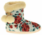Womens Ladies Fleece Lined Pom Pom Warm Soft Faux Fur Cosy Comfort Slipper Boot
