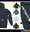 Carhartt Mens Signature Sleeve Logo Sweatshirts Midweight Hooded Pullover #K288