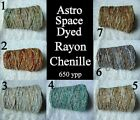 Soft Gorgeous Space Dyed Rayon Chenille Yarn 7 COLOR CHOICE Knit Crochet 650 ypp
