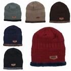 Winter Warm Knitted Hat Beanie Thicken Solf Fleece Lining Hat Cap Men Accessory