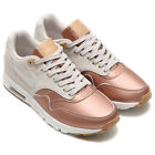 NEW WOMENS NIKE AIR MAX 1 ULTRA SE OFF WHITE ROSE GOLD ATHLETIC RUNNING SHOES