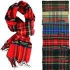 Внешний вид - For Womens Royal Stewart 100% CASHMERE Scarf Check Plaid Tartan Made In SCOTLAND
