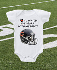 Chicago Bears Onesie Love To Watch With Daddy Shirt on eBay