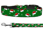 Mirage Santa Hat Christmas Nylon Cat and Dog Collars and Leash Combo