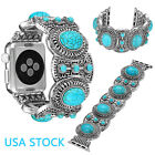US Turquoise Stretch Bracelet for iWatch Apple Watch Band 40/44mm 42/38mm Strap image
