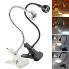 Flexible USB Clip-on Table Lamp LED Clamp Reading Study Bed Laptop Desk Light