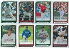 2008 Bowman Chrome REFRACTOR Parallel Single Cards #1-40 Rookie Card Logo RC Ref