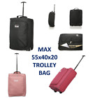 5 Cities Ryanair 55 x 40 x 20 Maximum Cabin Hand Luggage Approved Trolley Bag