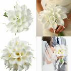 Kyпить 10~100pcs Artificial Real Touch Calla Lily Fake Flowers Wedding Bride Bouquet US на еВаy.соm