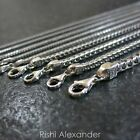 Kyпить Real 925 Sterling Silver Square Franco Mens Boys Chain Necklace Made in Italy на еВаy.соm