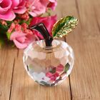 40mm 3D Cut Crystal Glass Apple Ornament Paperweight Home Wedding Decoration